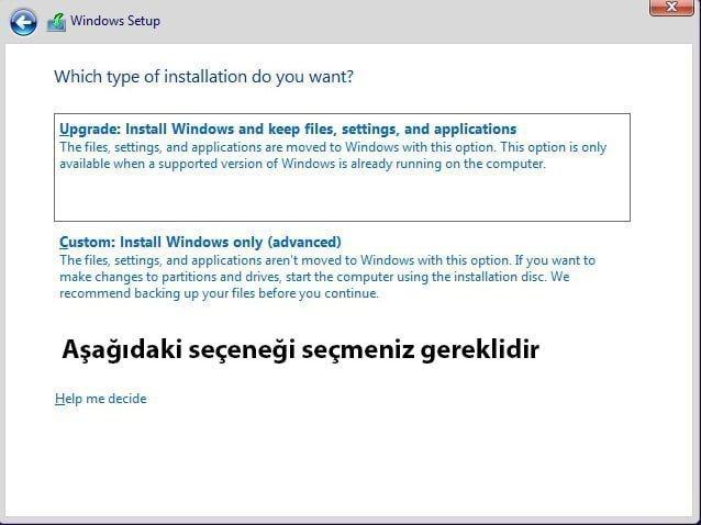 Windows Kurulumu