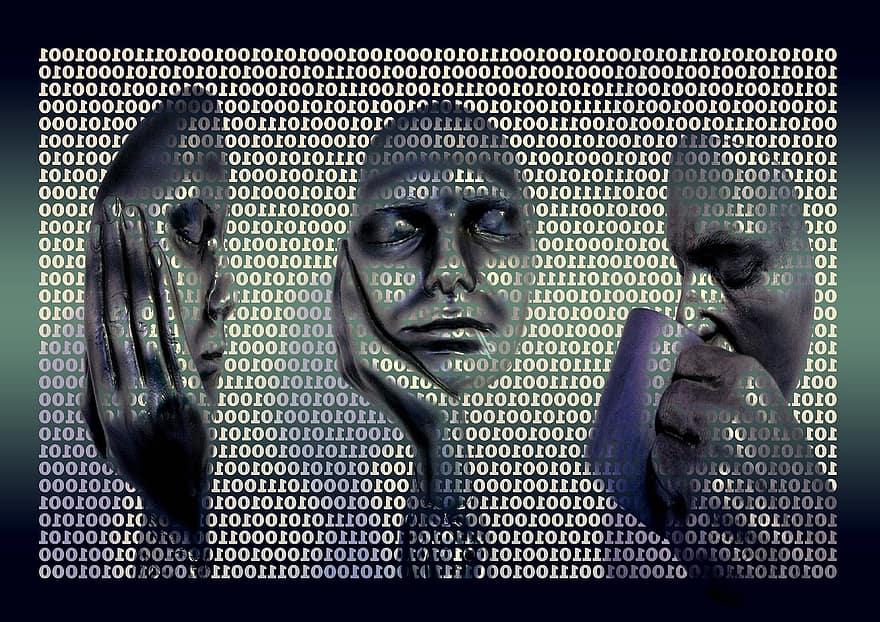 binary code binary binary system byte bits administrator matrix wallpaper pop art